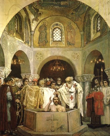 Vasnetsov_Baptism of Vladimir