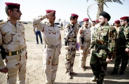 Ammar al-Hakim greets ISF members