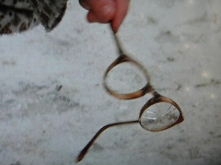 Ralphie's glasses after having been pulverized