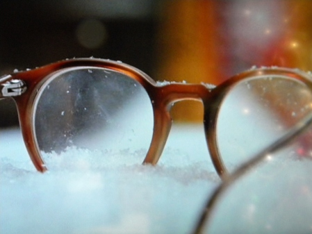 "Ralphie's glasses before they are ""pulverized"""