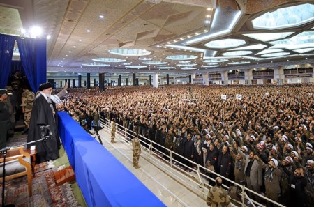 Supreme Leader Khamenei address Basij leadership during Basij Week 2014