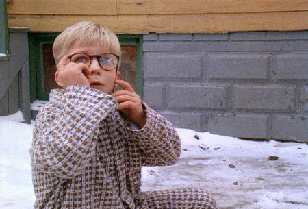 Ralphie sees if pulverized glasses will work