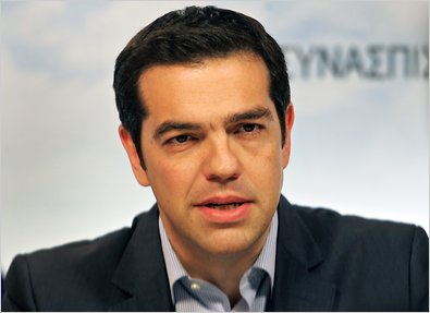 Alexis Tsipras, the new Prime Minister of Greece.  He was elected on his promise that he could solve Greece's debt problem.