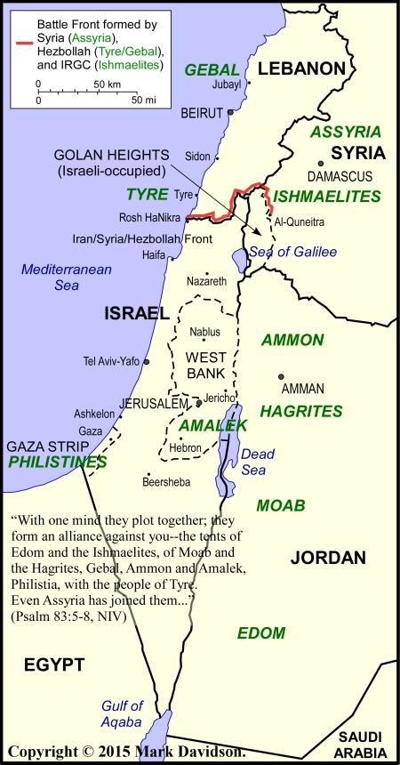 Israel and the enemies of Psalm 83 that surround her.