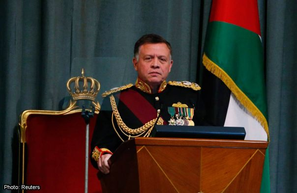 King Abdullah II of Jordan addressing the Jordanian parliament in November 2014.  Reuters photo.