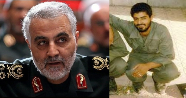 Two views of Qassem Soleimani: (R) the IRGC soldier in 1980 fighting the first horseman, and (L) the Major General, the head, of the IRGC Quds Force and de facto leader of Iraq, Syria and Lebanon.