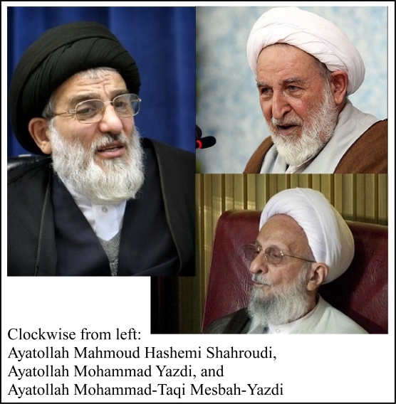 Three leading possible candidates to replace Supreme Leader Khamenei.  all of them are ultraconservative and would support the Second Signpost moving forward.