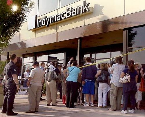 One of the many bank runs and bank failures after 2008.