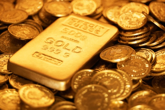 Gold coins and a gold ingot.  This is an excellent insurance policy to deliver your provision from one currency system to another.