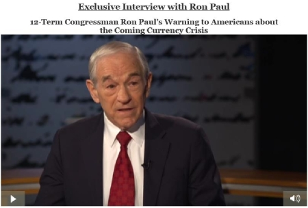 Ron Paul and his message of a major currency event coming soon to the USA.