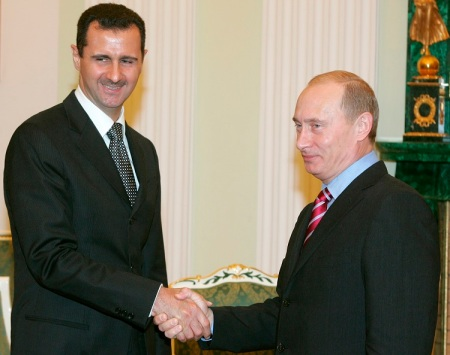 Russian President Putin meets with Syrian leader Assad assuring him of Russia's support.