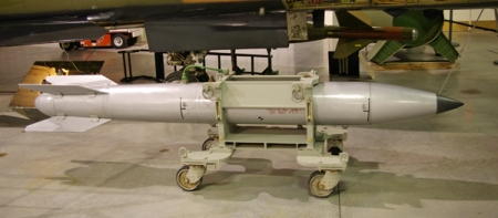 A B-61 variable yield nuclear bomb. (Wikipedia)