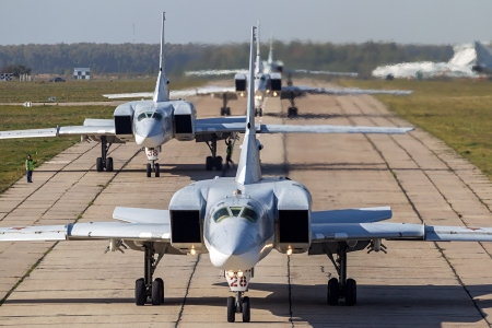 Russian Tu-22M3 bombers.  (Wikipedia photo)