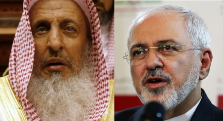 Al-Sheikh (L): Iranians are infidels. Zarif (R): Wahhabism