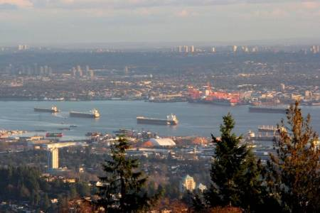 Three oil tankers fully loaded and leaving Vancouver. The world is awash in oil - what better time to let our guard down?