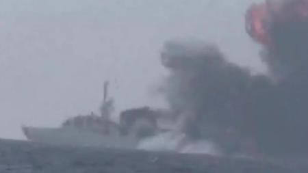A Saudi frigate was attacked Jan. 31 by a missile launched by Houthi militia.